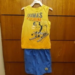 Boys tank top and shorts set.